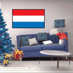 Luxembourg Flag Sticker 02