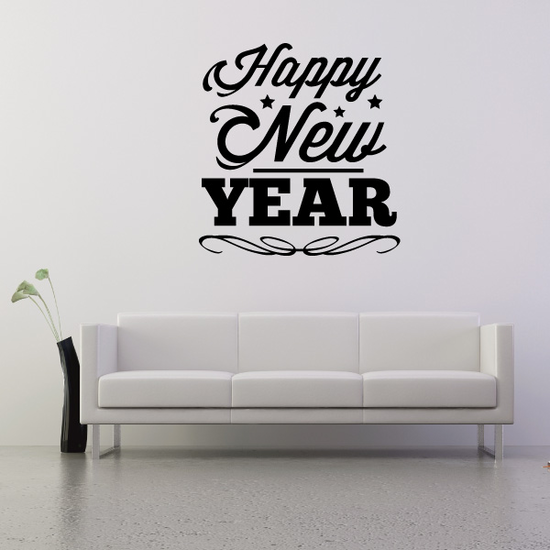 Fancy New Year Decal