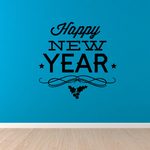 Winter New Year Decal