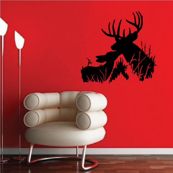 Family Deer Kissing Decal