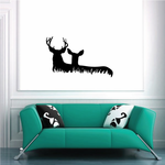 Family Deer Watching Couple Decal