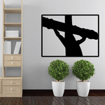 Jesus on the cross Rectangle Decal