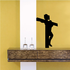 Jesus on the cross Silhouette Decal