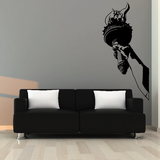 Olympics Liberty Fire Torch Arm Hold Decal