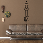 Olympics Hand Holding Torch Decal