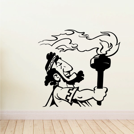 Olympics Greek Man Passing Torch Decal