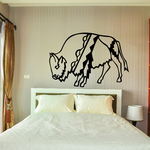Dressed Bison Buffalo Decal