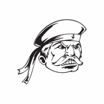 Angry Sailor with Mustache Decal