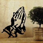 Praying hands churchgoer Decal