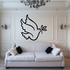 Flying Dove with Branch Decal