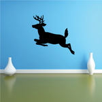 Whitetail Deer Buck Side Jump Decal
