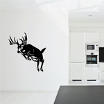White Tail Buck Leaping Over Decal