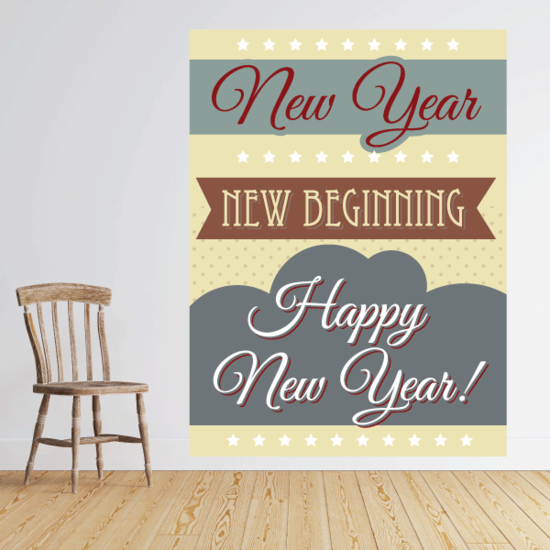 New Year New Beginning Sticker