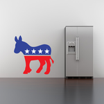 Democrat Donkey Printed Die Cut Decal