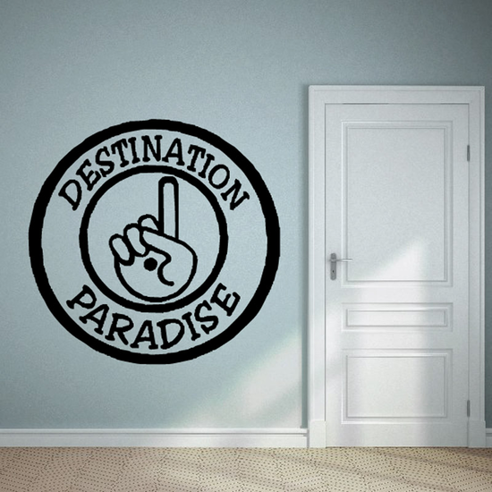 Destination paradise Decal