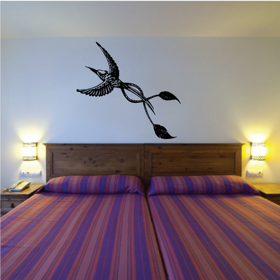 Twist Tail Egret Flying Decal