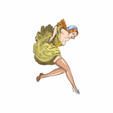 Woman with Stockings Decal