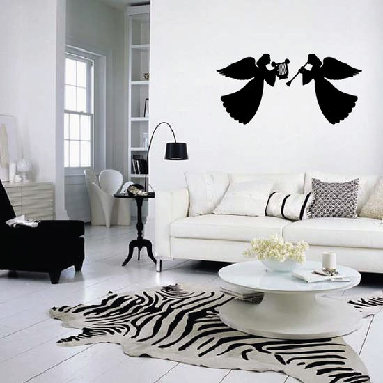 Angels Playing Music Decal