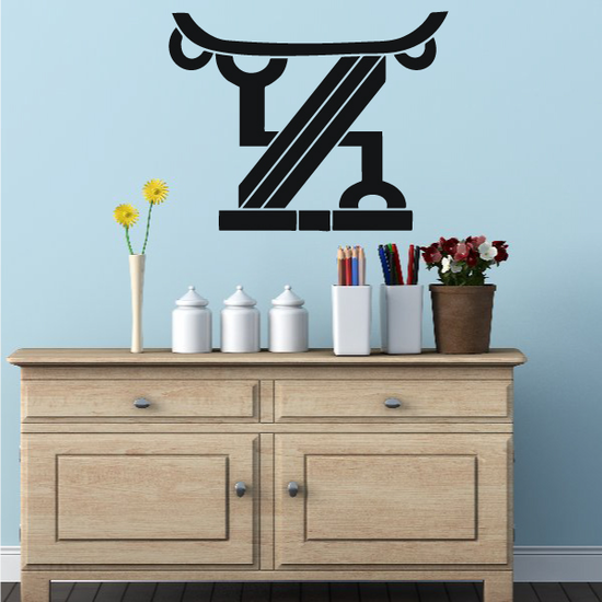 African Art Pedestal Decal