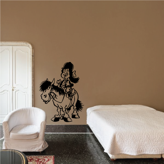 Cartoon Horse and Rider Decal