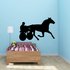 Horse Carriage Racing Decal