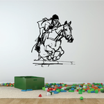 Leaping over Bar Equestrian Decal