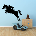 Leaping Equestrian Decal