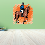Horse Racing Wall Decal - Vinyl Sticker - Car Sticker - Die Cut Sticker - SMcolor008