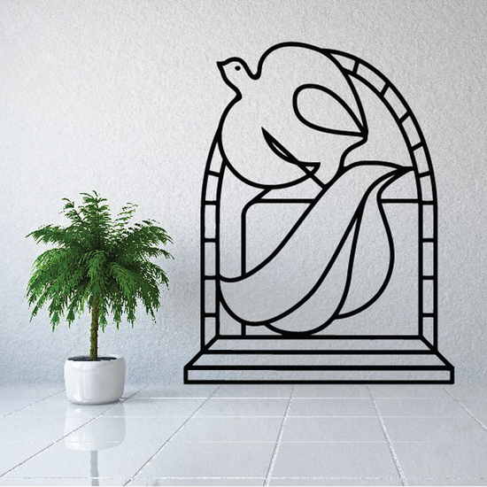 Zooming Dove Decal