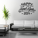 Happy New Years Custom Year Tiered Typography Decal