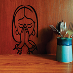 Woman Praying with hands over face Decal