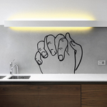 Praying hands intertwined Wall Decal - Vinyl Decal - Car Decal - DC8089