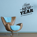Happy New Years Slant Style Decal