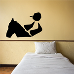 Horseback riding Wall Decal - Vinyl Decal - Car Decal - Bl018