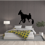 Horse racing Wall Decal - Vinyl Decal - Car Decal - Bl005