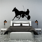 Horse racing Wall Decal - Vinyl Decal - Car Decal - Bl006