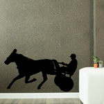 Horse racing Wall Decal - Vinyl Decal - Car Decal - Bl007