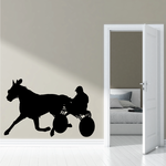 Horse racing Wall Decal - Vinyl Decal - Car Decal - Bl009