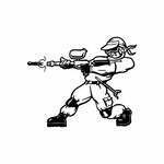 PaintBall Player Decal