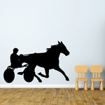 Horse racing Wall Decal - Vinyl Decal - Car Decal - Bl014
