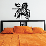 Agressive Paintball Player Decal