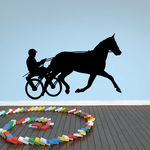 Horse racing Wall Decal - Vinyl Decal - Car Decal - Bl015