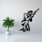 Kneeling Paintball Player Decal