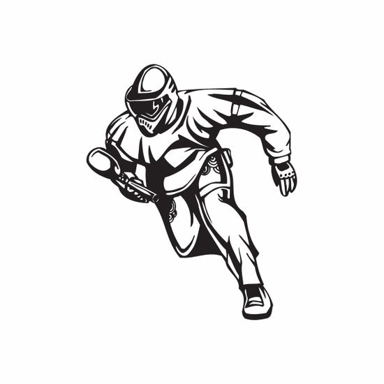 Running Paintball Player Decal