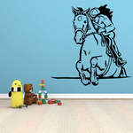 Horse racing Wall Decal - Vinyl Decal - Car Decal - Bl025