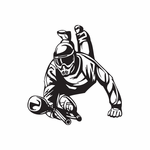 Paintball Player Leaping Decal