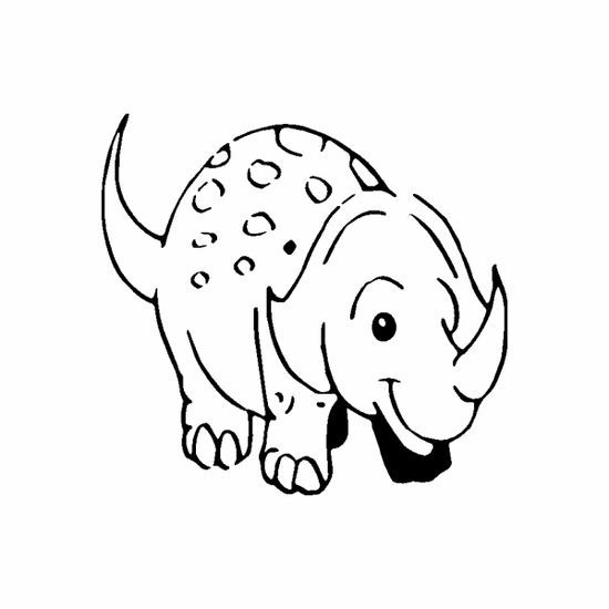 Baby Triceratops Outline Decal