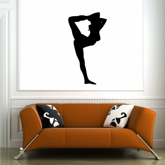 Ankle Hold Gymnastics Decal