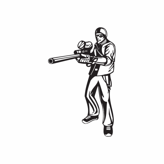 Professional Paintball Player Decal