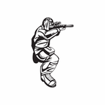 Covered Paintball Player Decal